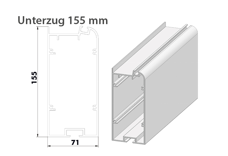 hauptprofi_Unterzug_155mm