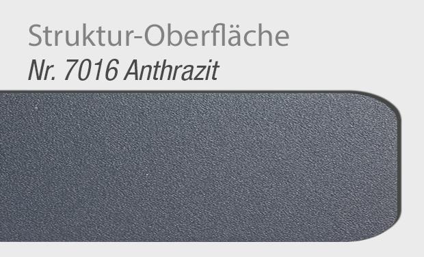 Struktur-Oberfläche 7016 Anthrazit für Haustür