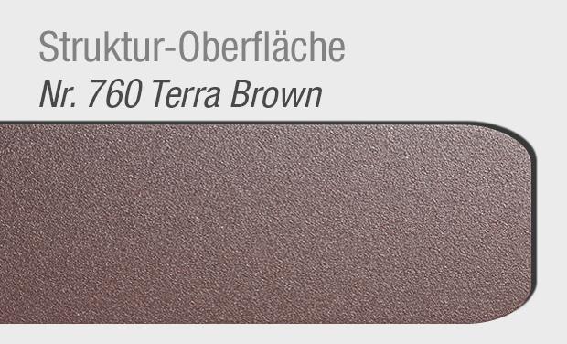 Struktur-Oberfläche 760 Terra Brown für Haustür