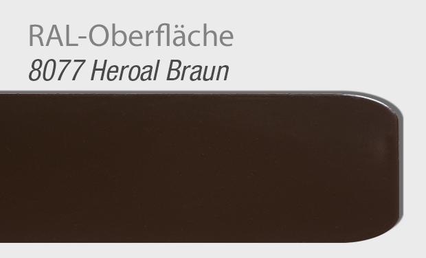 RAL Oberfläche 8077 Heroal Braun für Haustür