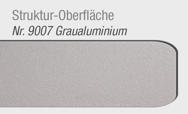 Struktur Oberläche 9007 Graualuminium für Haustür