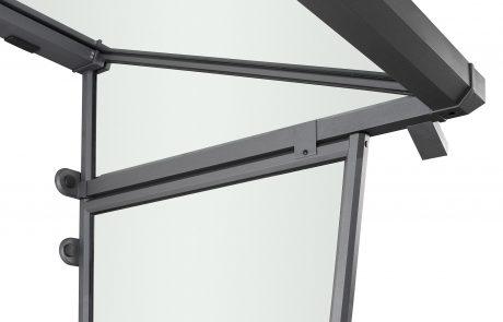 ALuminium Seitenteil Ansicht von innen