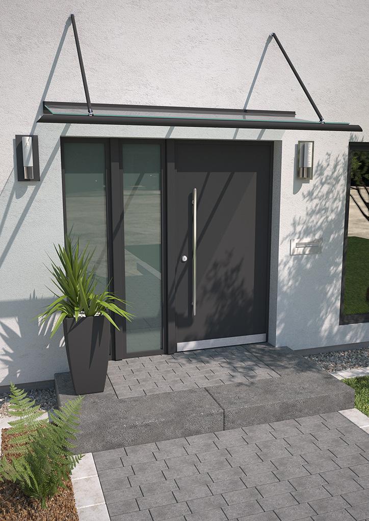 Vordach aus Aluminium Calypso 1