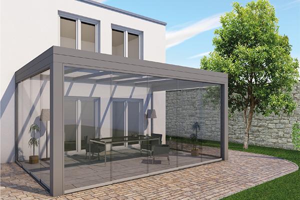 Aluminium Flachdach für Terrassenüberdachung