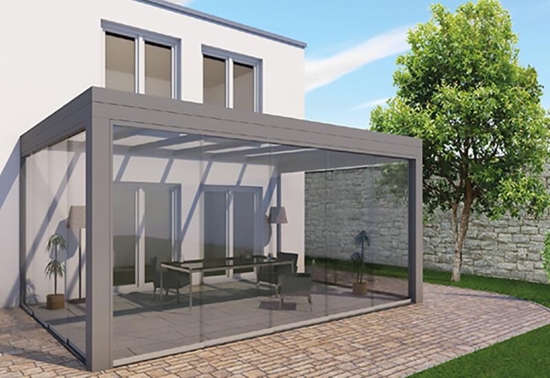 Terrassen Flachdach aus Aluminium von Portal