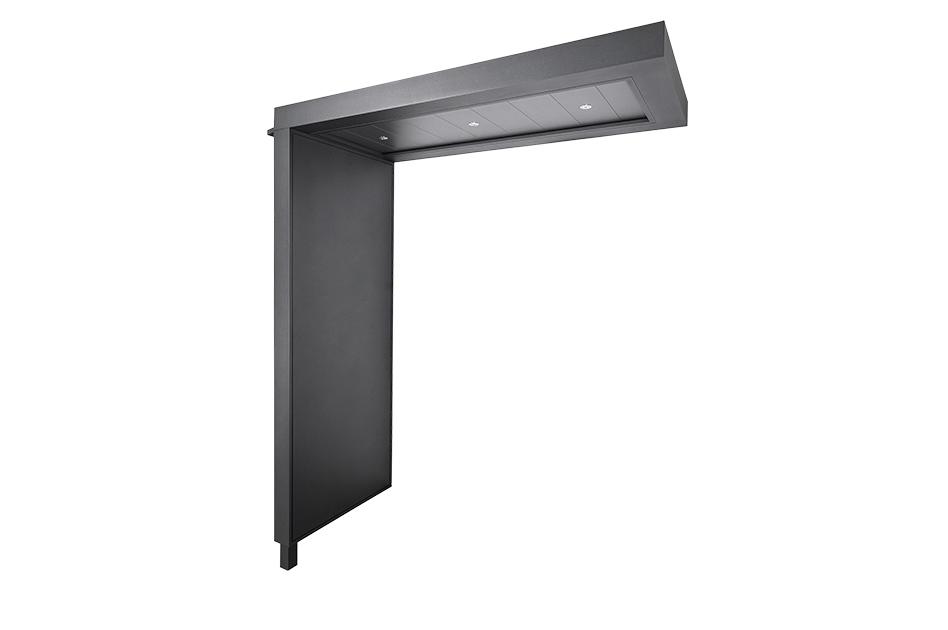 portal flaches Vordach mit Seitenteil und LED Beleuchtung