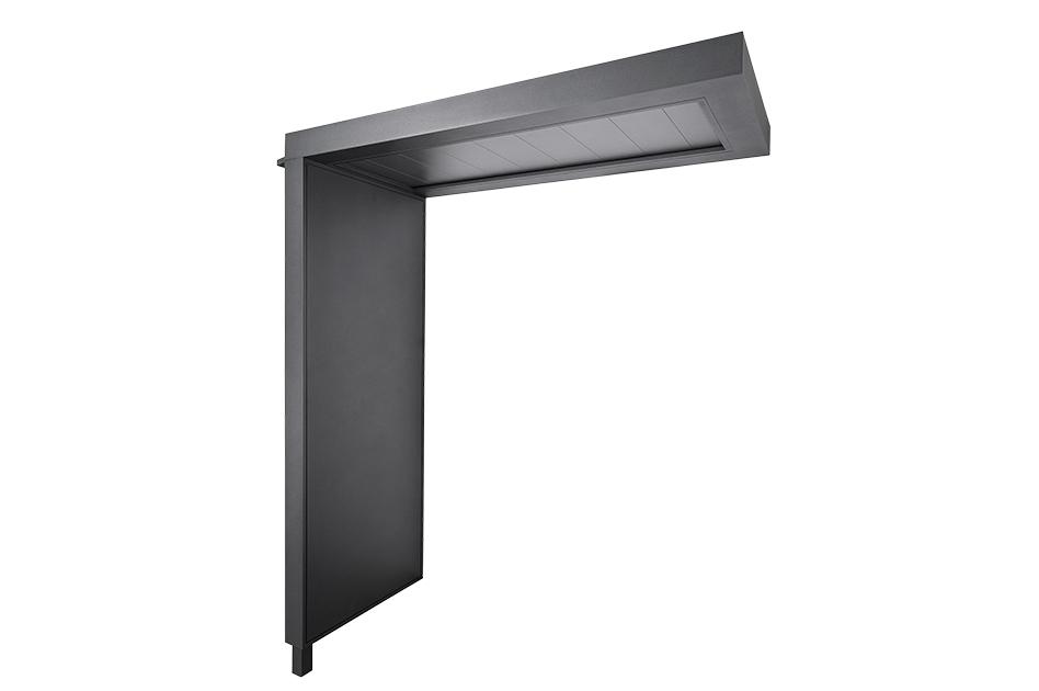 portal flaches Vordach mit PVC-Paneelfüllung