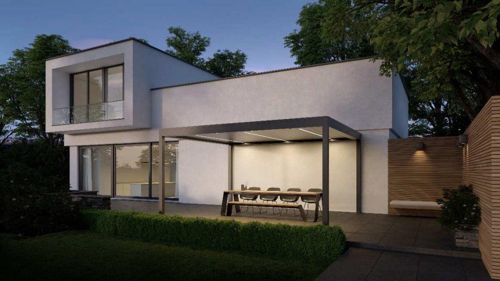 Pool- und Terrassenueberdachung Aluminium Lamellendach